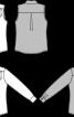 Блузка без рукавів з відкладним коміром - фото 3