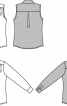 Блузка-сорочка з коміром-бантом - фото 3