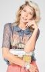Блузка сорочкового крою із потайною застібкою - фото 1