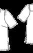 Блузка сорочкового крою із потайною застібкою - фото 3