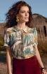Блузка прямого крою з відкладним комірцем - фото 1