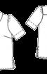 Блузка прямого крою з відкладним комірцем - фото 3