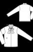 Блузка шовкова з великим коміром-бантом - фото 3