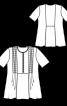 Блуза силуету ампір з вишивкою по краю - фото 3