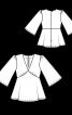 Блузка силуету ампір з деніму - фото 3