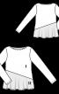 Пуловер трикотажний з асиметричним воланом - фото 3