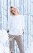 Пуловер трикотажний з асиметричним воланом - фото 4