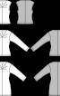 Пуловер із V-подібним вирізом і декоративними защипами - фото 3