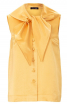 Блузка з широким коміром із фігурними зав'язками - фото 2