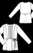 Блуза відрізна з вистроченими складками - фото 3