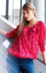 Блуза з рукавами реглан - фото 1