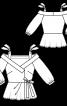 Блузка з баскою і асиметричною застібкою - фото 3