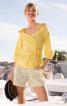 Блузка з баскою і асиметричною застібкою - фото 1