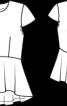 Блуза з короткими рукавами і баскою - фото 3