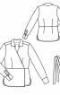Блузка з запахом і V-подібним вирізом - фото 3