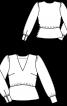 Блузка з призбореними по окатах рукавами - фото 3
