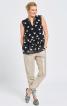 Блузка без рукавів і з призбореною баскою - фото 1
