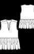 Блузка без рукавів і з призбореною баскою - фото 3