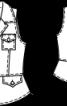 Блузка-жилет з баскою - фото 3
