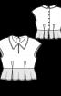 Блузка з баскою і застібкою на спинці - фото 3