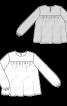 Блуза широкого крою з пишними рукавами - фото 3