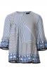 Блуза прямого кроя со сборками - фото 2