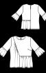 Блуза прямого кроя со сборками - фото 3