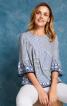 Блуза прямого кроя со сборками - фото 1