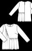 Блуза з асиметрією і драпіровками - фото 3