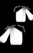 Блуза простора з одним рукавом - фото 3