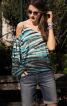 Блуза простора з одним рукавом - фото 4