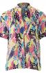 Блуза просторого крою з пластроном - фото 2