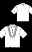 Блуза просторого крою з пластроном - фото 3