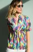 Блуза просторого крою з пластроном - фото 1