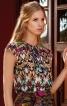 Блузка V-подібним вирізом і воланом - фото 1