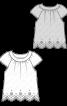 Блузка з фестончастим нижнім краєм - фото 3