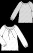 Блузка шовкова з рукавами реглан - фото 3