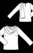 Блузка прямого крою з максі-шарфом - фото 3
