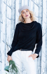 Блузка прямого крою з максі-шарфом - фото 1