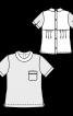 Блуза з наскрізною застібкою на спинці - фото 3
