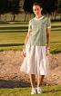 Блуза з наскрізною застібкою на спинці - фото 1
