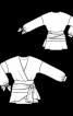Блуза із запахом і воланами - фото 3