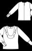 Блузка прямого кроя с воланом - фото 3