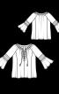 Блуза просторого крою з рукавами реглан - фото 3