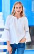 Блуза просторого крою з рукавами реглан - фото 1
