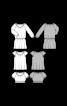 Блузка з короткими рукавами і вирізом кармен - фото 3