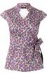 Блузка приталеного крою із апахом і баскою - фото 2