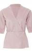 Блузка приталеного крою із запахом і баскою - фото 2