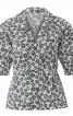 Блузка відрізна з баскою і рукавами 3/4 - фото 2