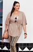 Блуза трикотажна з короткими рукавами - фото 1
